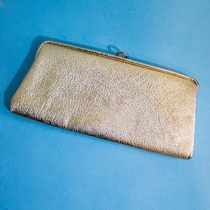 🔮Vintage Gold Metallic 80s 90s Clutch with Chain
